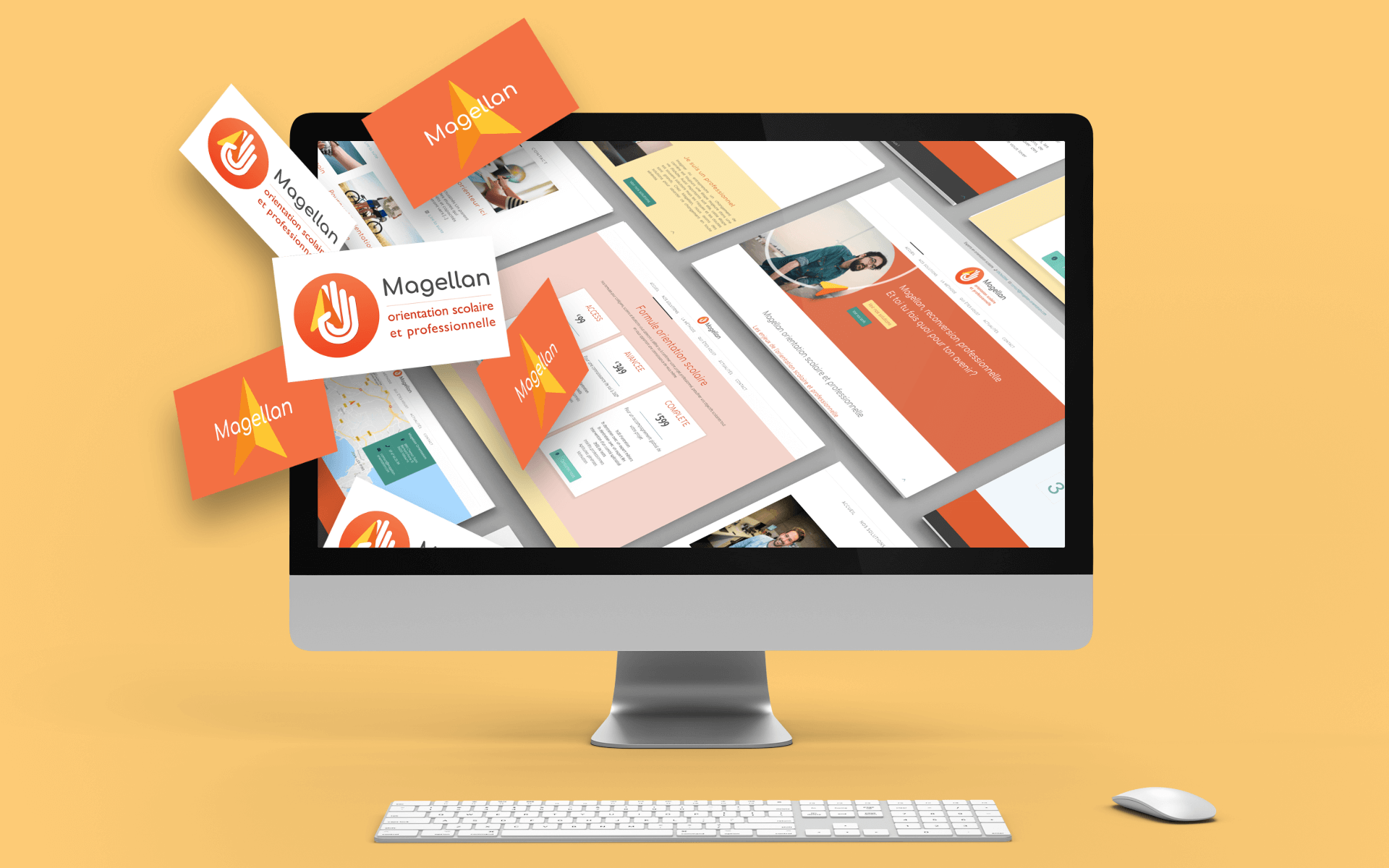 Website design and branding for Magellan