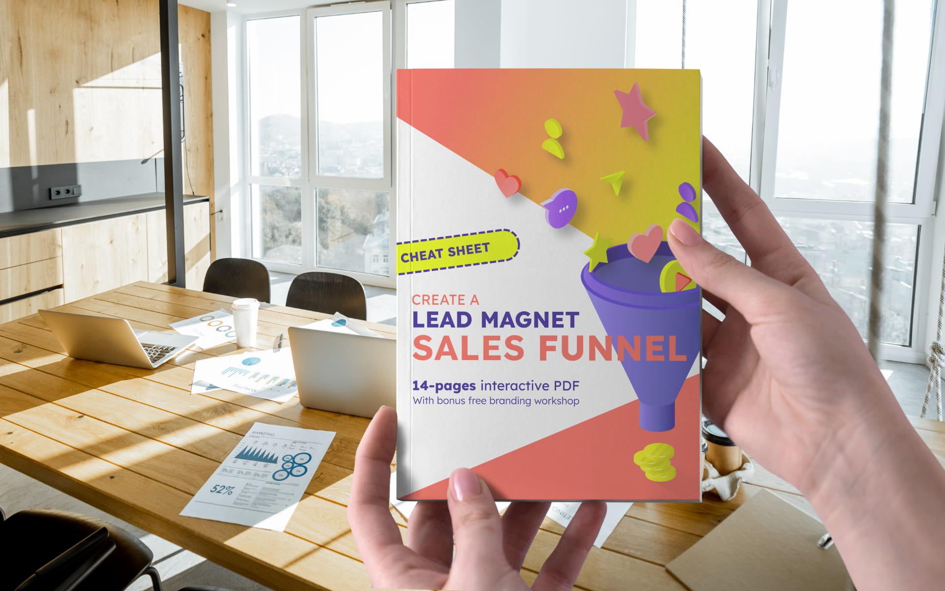 Funnels e-book cover for ad campaign